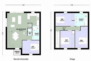 plan maison a etage 4 chambres 13 individuelle c t tage With plan etage 4 chambres