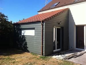 nos realisations d39extensions de maison ossature bois With plan maison en pente 17 nos realisations dextensions de maison ossature bois