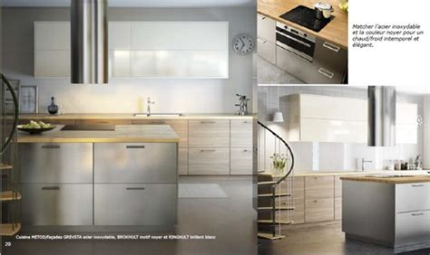 facades cuisine ikea cuisine metod facades grevsta acier inoxydable brokhult