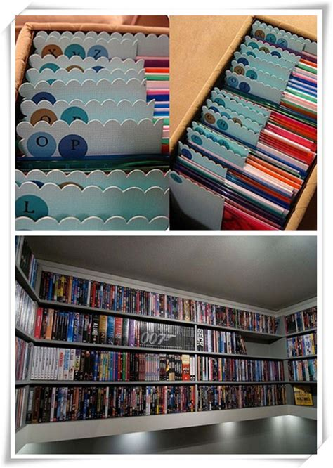 dvd organization ideas dvd storage ideas to thousands of dvds in small place 3492