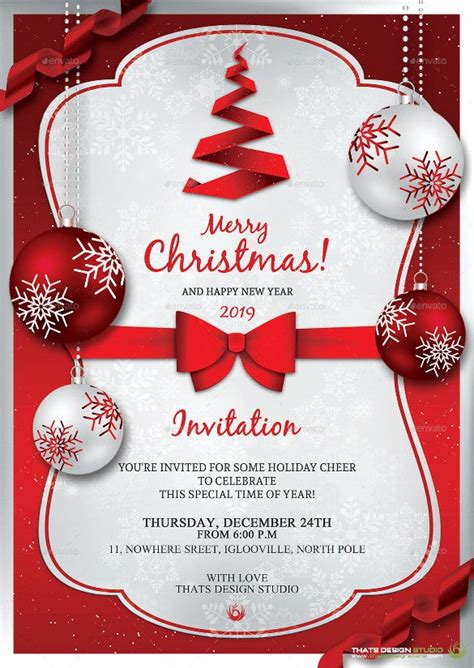 37+ Christmas Invitation Templates PSD AI Word Free