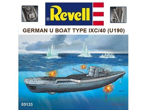 Revell 05133  (172) German U Boat Type Ixc40 (u190