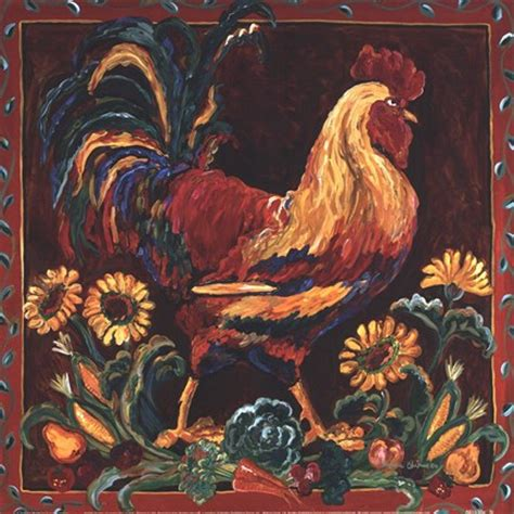 rooster rustic fine art print  suzanne etienne