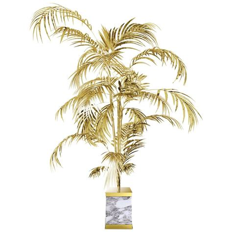 palm tree floor l floor l palms tropical in brass polished gold and