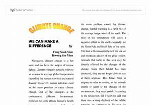 Science And Literature Essay Global Warming And Climate Changes Essay English Creative Writing Essays also Model English Essays Global Climate Change Essay Essay Intro Paragraph Global Warming  Health Promotion Essay