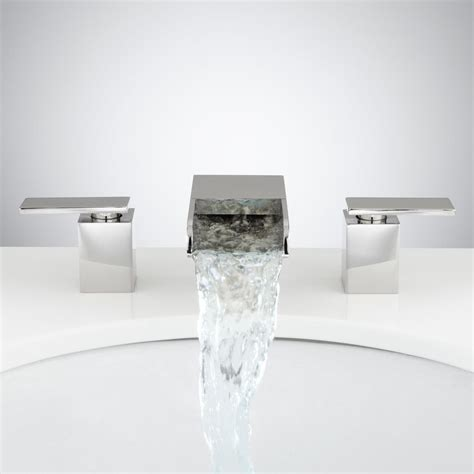 waterfall bathroom faucet chrome willis widespread waterfall faucet bathroom faucets
