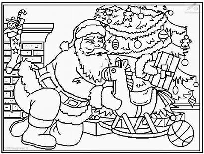 Santa Coloring Claus Pages Printable Christmas Filminspector
