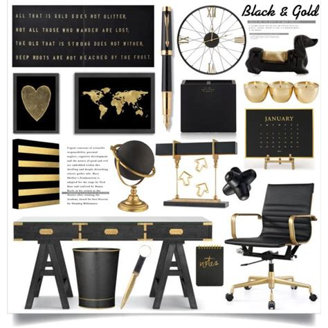 black and gold desk accessories the 25 best gold office ideas on pinterest gold office