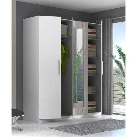 armoir de chambre pas cher finlandek armoire de chambre siisti 180 cm blanc et