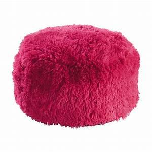 Maison Du Monde Pouf : pouf en fausse fourrure rose d 60 cm misty maisons du monde ~ Teatrodelosmanantiales.com Idées de Décoration