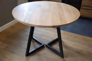 bois et table ronde 224 rallonges design moderne en acier