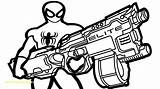 Nerf Gun Coloring Pages Guns Colouring Spiderman Sheets Boys Drawing Military Printable Print Web Themed Getcolorings Modest Wiht Fun Printables sketch template