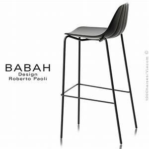Tabouret De Bar Acier : tabouret de bar design babah 80 pieds acier peint assise ~ Teatrodelosmanantiales.com Idées de Décoration