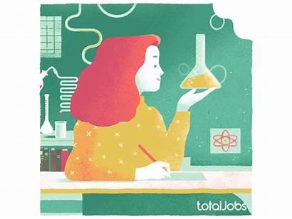 Totaljobs Animated Stem Illustrations Science Gender Issue