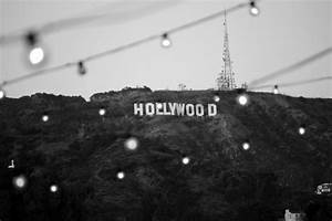 Hollywood Sign Black and white photograph 11x14  Hollywood