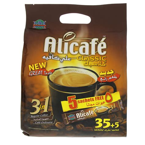 Decaffeination processes described above remove roughly 95 percent of caffeine from coffee beans. Buy Power Root Alicafe Classic 3In1 Regular Coffee 40 Sachets 700 gm Online in UAE, Abu Dhabi, Qatar