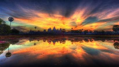 Reflection Clouds Reflections Water Fire Bangkok Wallpapers