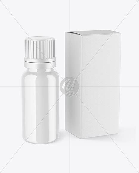 Free for personal and commercial use zip file includes: Download Glossy Dropper Bottle with Box Mockup PSD