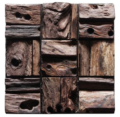 salvaged wood planks interior wall tile decoration panel