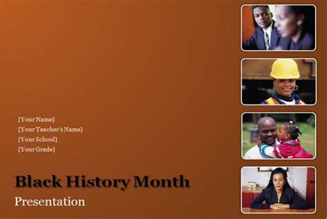 black history month  powerpoint templates