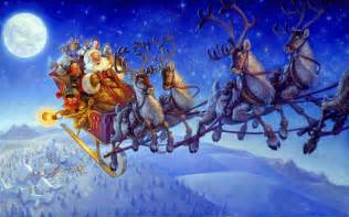 santa claus on sleigh wallpapers and reindeer christmas coloring page pictures photos images
