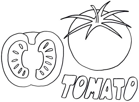 a coloring page tomato coloring page for grig3 org