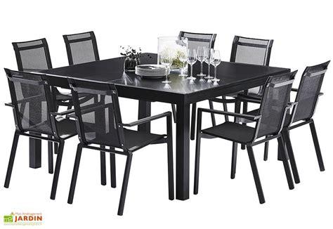 salon de jardin carr 233 whitestar 1 table extensible 8 fauteuils wilsa