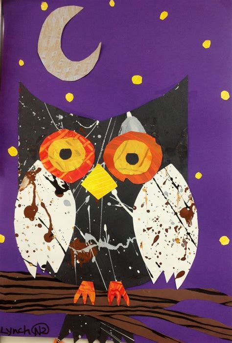 lesson plans owl paper and collage on pinterest