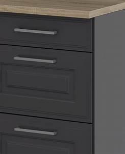 Unterschränke Küche Günstig : k chen unterschrank k ln 2 ausz ge 1 schublade grau graphit k che k chen unterschr nke ~ Buech-reservation.com Haus und Dekorationen