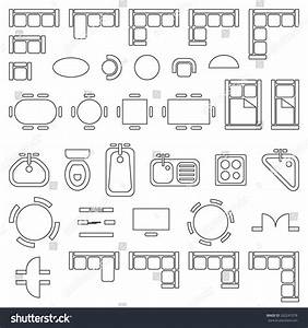 Grundriss Symbole Architektur : standard furniture symbols used architecture plans stock ~ Lizthompson.info Haus und Dekorationen
