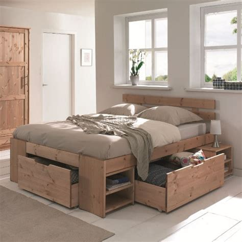 chambre cocktail scandinave le lit à rangements astucieux