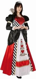 La Reine De Coeur : costume reine de coeur adulte costume tim burton ~ Nature-et-papiers.com Idées de Décoration