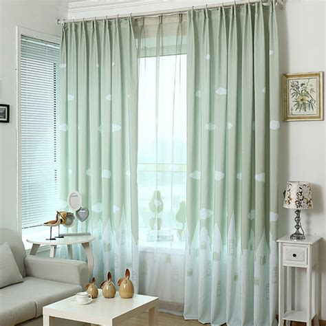 cheap country curtains green for bedroom