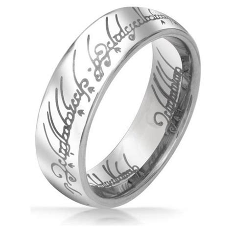 silver lord of the rings wedding band lord of the rings silver tungsten 6mm