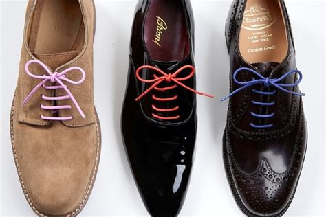 colored shoe laces colored laces for dress shoes wsj