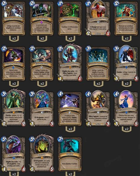 Hearthstone Decks Tgt by Deck Voleur Arme Tgt Hearthstone Heroes Of Warcraft