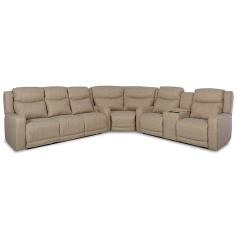 power reclining sofa with usb ports klaussner barnett three pc power reclining sectional sofa