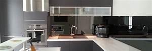 Crédence Cuisine Verre : credence de cuisine en verre e miroiterie ~ Premium-room.com Idées de Décoration