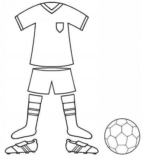 football kit  uniform colouring page