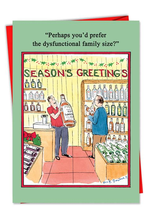 They say that christmas is just around the corner. Dysfunctional Family Christmas Card