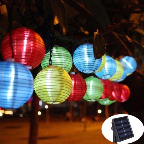 lantern solar string lights 30 led solar l outdoor