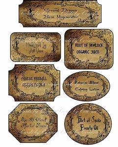 Halloween Grunge Apothecary Assorted Labels Stickers Set