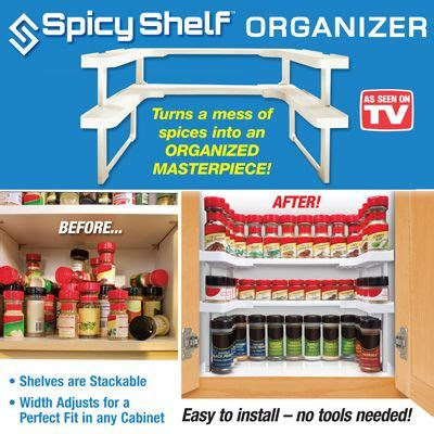 Space Saver Spice Rack As Seen On Tv by Spicy Shelf Kitchen Cabinet Spice Rack Organizer Spicy