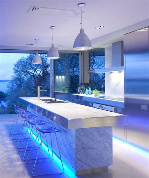 blue led kitchen lights the magic of color changing kitchen lights pegasus 4836