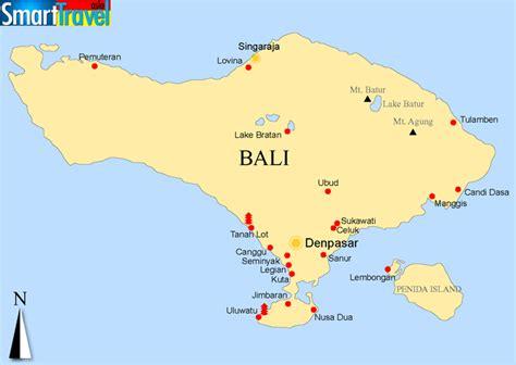 maps  bali island indonesia printable