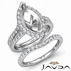 marquise diamond semi mount engagement wedding ring bridal With marquise diamond wedding ring sets