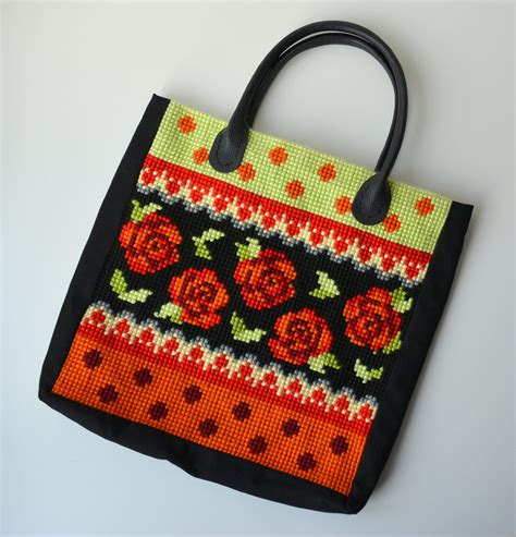 orchidea cross stitch bag marrose