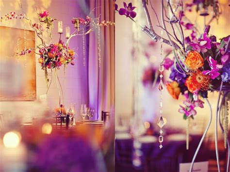 your wedding support get the look orange purple themed wedding