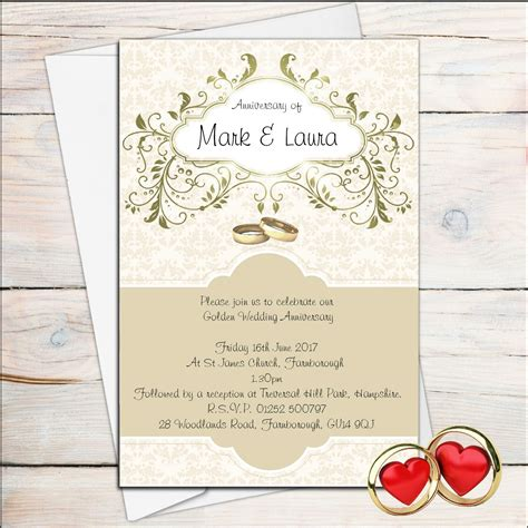 Wedding anniversary invitations online : Collection of