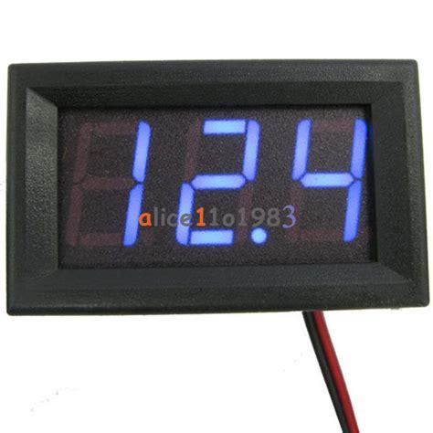 0 56 quot 2 3 wire dc4 5 4 7 5v 30v voltmeter led display volt voltage meter panel ebay